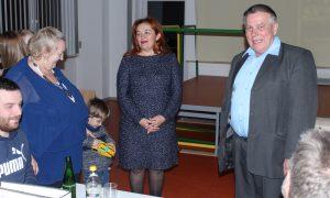 Valentina Krieger, Bürgermeisterin Mariya Koval-Mazyuta, Vorsitzender Viktor Krieger